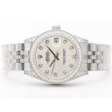 Replique Rolex Datejust Swiss ETA 2836 Mouvement Cadran MOP Avec Diamant Marquage & Lunette Mid-Size - Belle Montre Rolex DateJust pour vous 21056