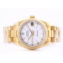 Replique Rolex Datejust Swiss ETA 2836 Mouvement d'or pleine avec le bâton de marquage-Mid Size - Belle Montre Rolex DateJust pour vous 21018