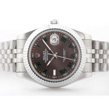 Replique Rolex Datejust automatique Ⅱ cadran brun avec Green Roman Marquage S / S - Montre Rolex Datejust II attrayant pour vous 22259
