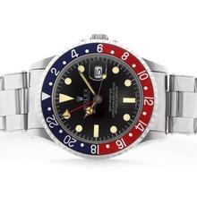 Replique Rolex GMT-Master Swiss ETA 2836 Mouvement bleu / rouge lunette avec cadran édition-Vintage Black - Attractive Rolex GMT Regarder pour vous 24362