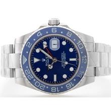 Replique Rolex GMT Master automatique avec cadran bleu S / S-bleu lunette en céramique - Attractive Rolex GMT Regarder pour vous 24360
