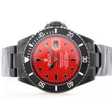 Replique Rolex Submariner suisse ETA 2836 Mouvement PVD complet avec Red Dial - Bamford & Sons Limted Edition - Belle Montre Rolex Submariner 25173 pour vous