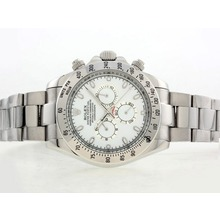Replique Rolex Daytona II automatique avec cadran blanc-42mm Version 24185