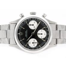 Replique Rolex Daytona Chronograph Pre Swiss Valjoux 7750 Mouvement avec cadran édition-Vintage Black - Attractive Rolex Daytona Montre pour vous 23728
