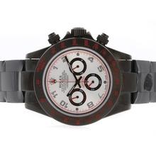 Replique Rolex Daytona Pro Hunter-Chronographe PVD complet avec cadran blanc-Nombre de marquage - Attractive Rolex Daytona Montre pour vous 23727