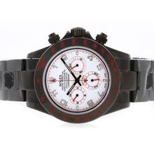 Replique Rolex Daytona Pro Hunter-Chronographe PVD complet avec cadran blanc-Nombre de marquage - Attractive Rolex Daytona Montre pour vous 23726
