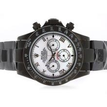 Replique Rolex Daytona Pro Hunter-Chronographe PVD complet avec MOP Dial-romaine Marquage - Attractive Rolex Daytona Montre pour vous 23725