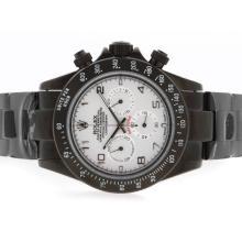 Replique Rolex Daytona Pro Hunter-Chronographe PVD complet avec cadran blanc-Nombre de marquage - Attractive Rolex Daytona Montre pour vous 23724