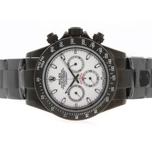 Replique Rolex Daytona Pro Hunter-Chronographe PVD complet avec cadran blanc-Stick Marquage - Attractive Rolex Daytona Montre pour vous 23723