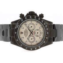 Replique Rolex Daytona Pro Hunter-Chronographe PVD complet avec cadran météorite-Stick Marquage - Attractive Rolex Daytona Montre pour vous 23721
