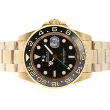 Replique Rolex GMT-Master II Swiss ETA 2836 Mouvement avec plaqué or Case-céramique Lunette - Attractive Rolex GMT Regarder pour vous 24350