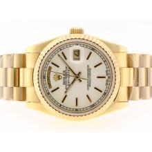 Replique Rolex Day-Date Swiss ETA 2836 Mouvement d'or complète avec MOP Dial-Stick Marquage - Attractive montre Rolex Day Date 22348 pour vous