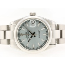 Replique Rolex Datejust Swiss ETA 2836 Mouvement avec cadran bleu clair-Stick Marquage - Attractive montre Rolex DateJust pour vous 20745