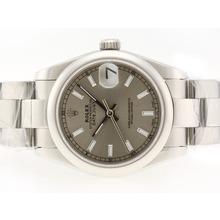 Replique Rolex Datejust Swiss ETA 2836 Mouvement avec cadran gris-Stick Marquage - Attractive montre Rolex DateJust pour vous 20744