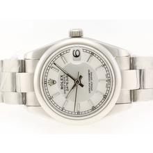 Replique Rolex Datejust Swiss ETA 2836 Mouvement avec cadran blanc-Stick Marquage - Attractive montre Rolex DateJust pour vous 20742
