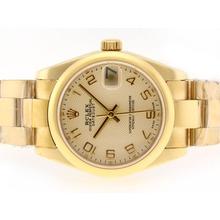 Replique Rolex Datejust Swiss ETA 2836 Mouvement d'or pleine d'or avec Dial-Marquage Numéro - Attractive montre Rolex DateJust pour vous 20738