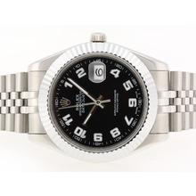Replique Rolex Datejust II Swiss ETA 2836 Mouvement avec marqueurs Nombre cadran noir-41mm - Version attrayant Rolex Datejust II montre pour vous 22254