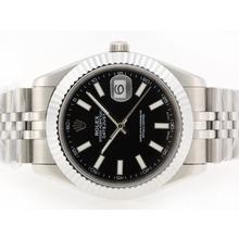 Replique Rolex Datejust II Swiss ETA 2836 Mouvement marqueurs de bâton avec cadran noir-41mm - Version attrayant Rolex Datejust II montre pour vous 22253