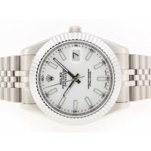 Replique Rolex Datejust II Swiss ETA 2836 Mouvement marqueurs de bâton avec cadran blanc-41mm - Version attrayant Rolex Datejust II montre pour vous 22252