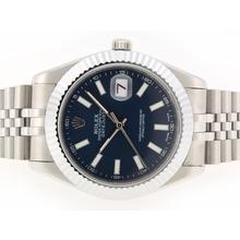 Replique Rolex Datejust II Swiss ETA 2836 Mouvement marqueurs de bâton avec cadran bleu-41mm - Version attrayant Rolex Datejust II montre pour vous 22250
