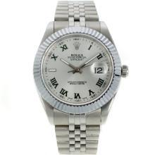 Replique Rolex Datejust II Swiss ETA 2836 Mouvement marqueurs romains avec cadran blanc-41mm - Version attrayant Rolex Datejust II montre pour vous 22249