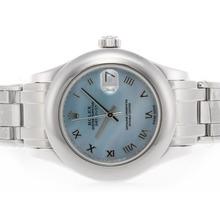 Replique Rolex Masterpiece Swiss ETA 2836 Mouvement avec cadran romain de marquage MOP Blue Light - Attractive montre Rolex Masterpiece pour vous 24609