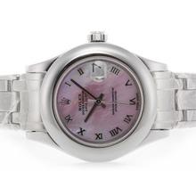Replique Rolex Masterpiece Swiss ETA 2836 Mouvement romaine de marquage avec cadran rose MOP - Attractive montre Rolex Masterpiece pour vous 24608