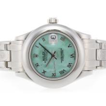 Replique Rolex Masterpiece Swiss ETA 2836 Mouvement avec Roman marquage vert MOP Dial - Attractive montre Rolex Masterpiece pour vous 24607