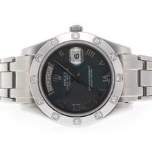 Replique Rolex Masterpiece Swiss ETA 2836 Mouvement romaine de marquage avec Black MOP Dial - Attractive montre Rolex Masterpiece pour vous 24582