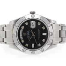 Replique Rolex Masterpiece suisse ETA Mouvement Diamant Marquage 2836 avec cadran noir - Attractive montre Rolex Masterpiece pour vous 24581