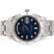 Replique Rolex Masterpiece suisse ETA Mouvement Diamant 2836 Marquage Cadran Bleu - Attractive montre Rolex Masterpiece pour vous 24580