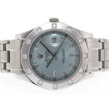 Replique Rolex Masterpiece suisse ETA Mouvement Diamant 2836 Marquage Cadran Bleu Clair - Attractive montre Rolex Masterpiece pour vous 24577