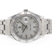 Replique Rolex Masterpiece suisse ETA Mouvement Diamant Marquage 2836 avec cadran argenté - Attractive montre Rolex Masterpiece pour vous 24576