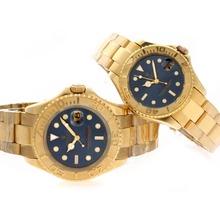 Replique Rolex Yacht-Master Swiss ETA 2836 Mouvement d'or complète avec cadran bleu - Attractive Rolex Yachtmaster 25331 Montre pour vous