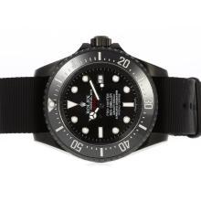 Replique Rolex Sea Dweller Deep Sea Pro Hunter Asie Mouvement PVD affaire avec Nylon Strap Édition Limitée-Jacques - Attractive montre Rolex Sea Dweller 24927 pour vous