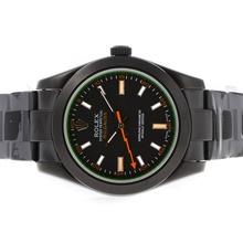 Replique Rolex Milgauss automatique complet PVD Cadran Noir - Attractive Rolex Milgauss Montre pour vous 24821