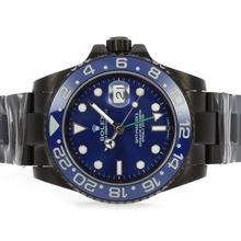 Replique Rolex GMT-Master II automatique complet PVD avec cadran bleu et lunette en céramique - Attractive Rolex GMT Regarder pour vous 24338