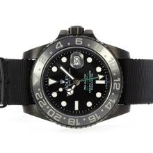 Replique Rolex GMT-Master II Pro-Hunter Edition Automatique PVD affaire avec Nylon Strap-céramique Lunette - Attractive Rolex GMT Regarder pour vous 24337