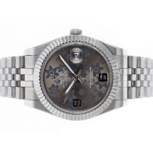 Replique Rolex Datejust II automatique avec cadran gris Motif Floral S / S - Attractive Rolex Datejust Watch II pour vous 22210