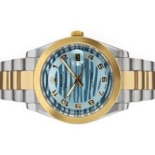 Replique Rolex Datejust II automatique deux marqueurs numéro de sonorité avec cadran vague bleue - Belle Rolex Datejust II montre pour vous 22193