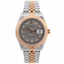 Replique Rolex Datejust II Swiss ETA 2836 Mouvement deux marqueurs de diamant Tone avec cadran gris - Attractive Rolex Datejust II montre pour vous 22169