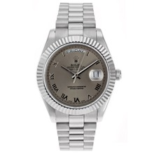Replik Rolex Day-Date II Swiss ETA 2836 Movement Roman Markers with Gray Dial – Attractive Rolex Day Date II Watch for You 22798
