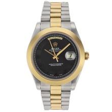Replique Rolex Day-Date II Swiss ETA 2836 Mouvement deux marqueurs numéro de sonorité avec cadran noir - Attractive Date Rolex Day II montre pour vous 22769