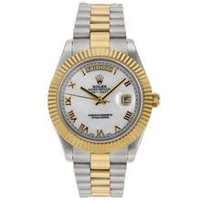 Replique Rolex Day-Date II Swiss ETA 2836 Mouvement deux marqueurs romains Tone avec cadran MOP - Attractive Date Rolex Day II montre pour vous 22764