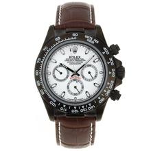 Replique Rolex Daytona Chronographe de travail marqueurs de bâton PVD avec cadran blanc Rolex Daytona - Montres attrayant pour vous 23552