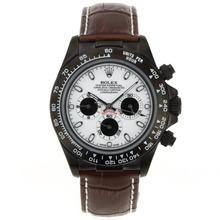 Replique Rolex Daytona Chronographe de travail marqueurs de bâton PVD avec cadran blanc Rolex Daytona - Montres attrayant pour vous 23551