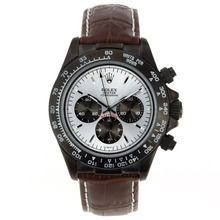 Replique Rolex Daytona Chronographe de travail marqueurs de bâton PVD avec cadran argent Rolex Daytona - Montres attrayant pour vous 23550