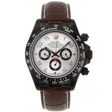 Replique Rolex Daytona Chronographe de travail marqueurs PVD Nombre de cas avec cadran noir Rolex Daytona - Montres attrayant pour vous 23549