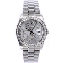 Replique Rolex Datejust automatique Diamond Bezel avec cadran argent diamant S / S - Montre Rolex DateJust attrayant pour vous 20595