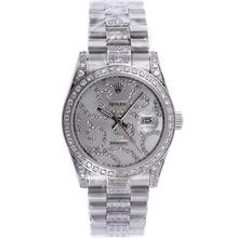 Replique Rolex Datejust automatique Diamond Bezel avec cadran argent diamant S / S - Montre Rolex DateJust attrayant pour vous 20594